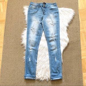 Elite Jeans Distressed Skinnies